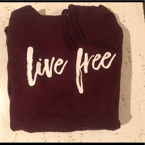 Tops - Live Free hoodie